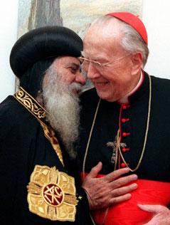 Koptischer Papst Schenuda III. und Kardinal Franz König 1998