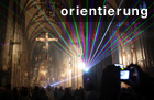Lichtinstallation im Stephansdom